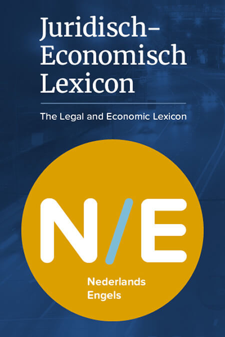Juridisch-Economisch Lexicon NL-EN product photo