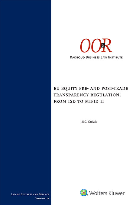 EU Equity pre- and post-trade transparency regulation: from ISD to MiFID II