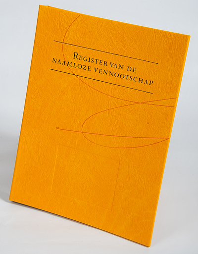 Register van de NV - boek